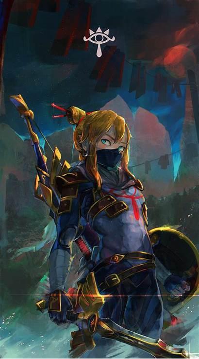 Zelda Legend Breath Wild Link Master Sword