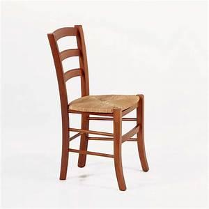 Chaise En Bois Massif : chaise rustique en bois et paille broc liande 4 pieds tables chaises et tabourets ~ Teatrodelosmanantiales.com Idées de Décoration