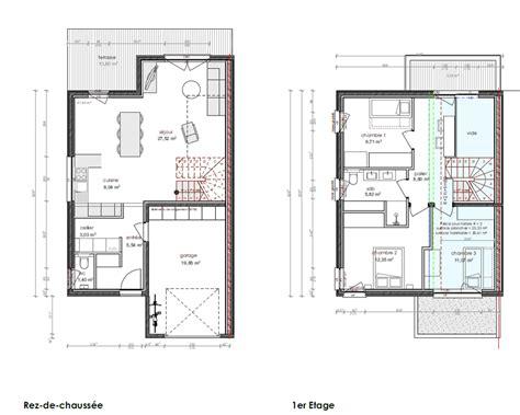 plan maison 6 chambres maison jumelée avec jardin eco quartier augny innovhabitat