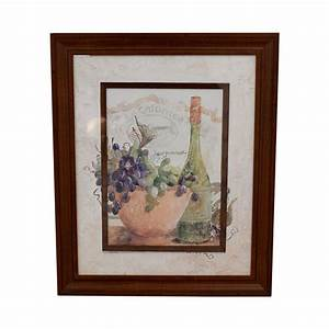 73 off fortunoff fortunoff wine and grape wall art decor With grapes furniture and home decor