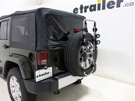 jeep wrangler bike rack 2016 jeep wrangler unlimited spare tire bike racks thule