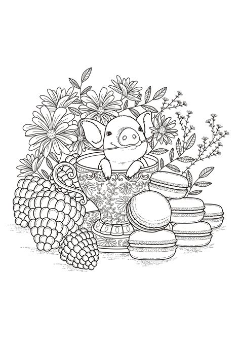 Awesome Baby Animals Adult Coloring Pages Collection