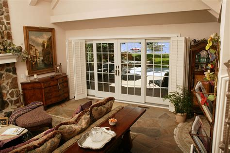 use a patio door on both sides of a sunroom