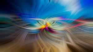 Wallpaper, Sunlight, Colorful, Digital, Art, Abstract, Reflection, Wavy, Lines, Cgi, Blue, Circle