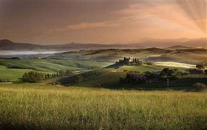 Tuscany Italy Wallpapers Rural Tuscan Desktop Field