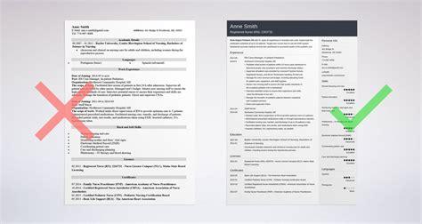nursing resume sle complete guide 20 exles