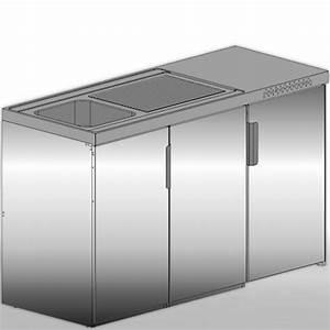 Kühlschrank Mit Gefrierfach 50 Cm Breit : minik che edelstahl 150 cm breite mit k hlschrank a ~ Frokenaadalensverden.com Haus und Dekorationen