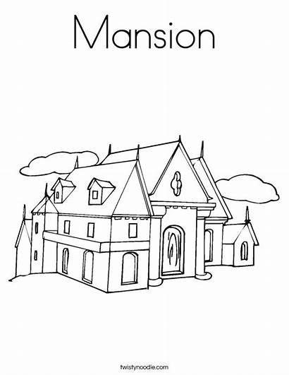 Coloring Mansion Worksheet Outline Built Noodle California