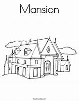 Coloring Mansion Worksheet Outline Built Noodle Tracing California Usa Twistynoodle Block Twisty sketch template