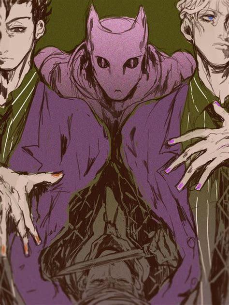 Jojos Adventure All Battle Purple Anime Fictional Character Cg Artwork Yoshikage Yoshikage And Killer T