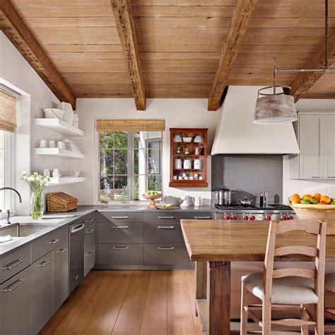 cuisine inox bois cuisine meuble cuisine cagne fonctionnalies ferme