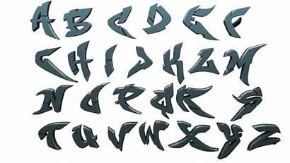 Graffiti Alphabet Letter Letters 3d Drawing Gfx