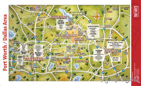 dallas fort worth map tourist attractions holidaymapq com