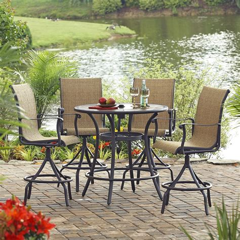 lowes canada outdoor dining sets allen roth safford 5 dining set lowe s canada