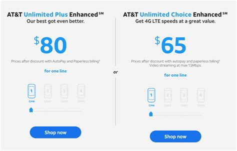 best at t cell phone plans in 2018