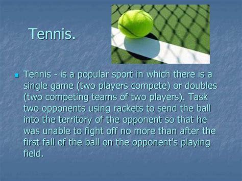 Sport Is My my favourite sport is tennis presentation