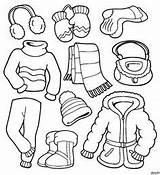 Coloring Hiver Vetements Dessins Imprimer Enfants Garden sketch template
