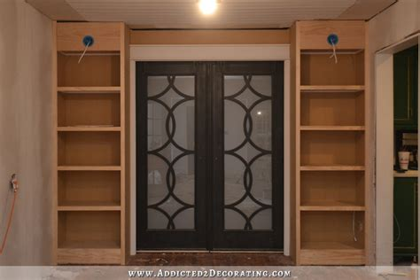 how to build a pocket door room pocket door bookcases basic build complete