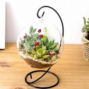Vase Suspendu En Verre : hydroponique plante fleurs suspendus vase en verre contenant maisonjardin d coration arriv e ~ Teatrodelosmanantiales.com Idées de Décoration