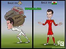Cartoon Bale in RealMadrid and Bale in Wales Troll