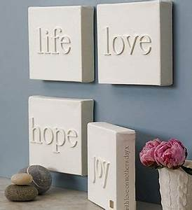 diy wall art canvas with wooden letters With wooden letters on canvas