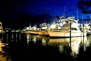 Fishing Boats At Night Free Stock Photo - Public Domain ...