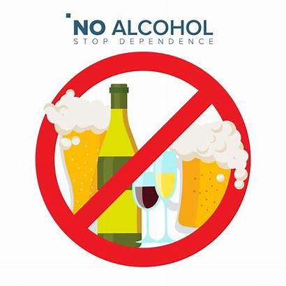 Alcohol Cartoon Sign Abuse Prohibition Vector Icon