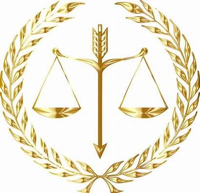 Clipart Gold Crest Laurel Justice Emblem Transparent