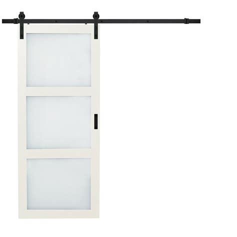 Kitchen Closet Organization Ideas - truporte 36 in x 84 in bright white solid core rustic barn door with sliding door hardware kit