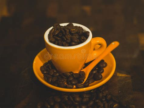 Oily coffee beans are the result of a chemical reaction that occurs when the internal shell of a coffee bean meets oxygen. Oily Coffee Beans, Close-up For Background Stock Image - Image of brew, closeup: 115457197