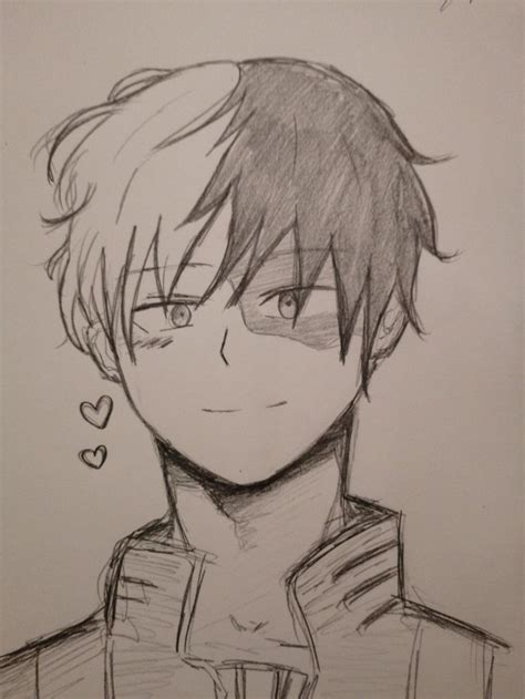 shoto todoroki fanart   pencil drawings drawings