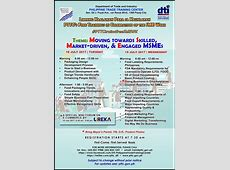 Schedule of DTI Trainings