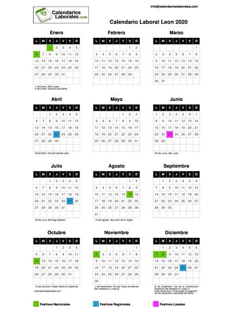 calendario laboral leon