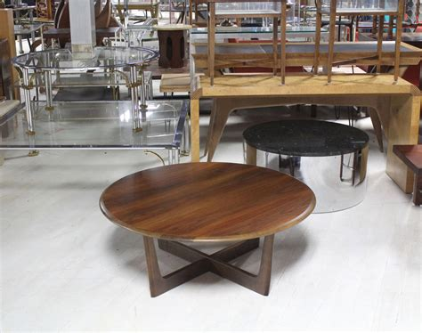 round coffee table base walnut x base round coffee table for sale at 1stdibs