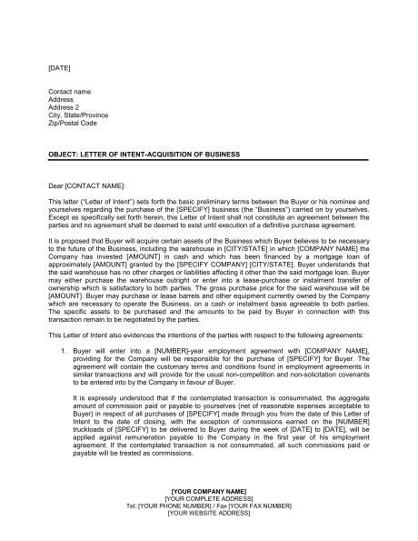 letter  intent