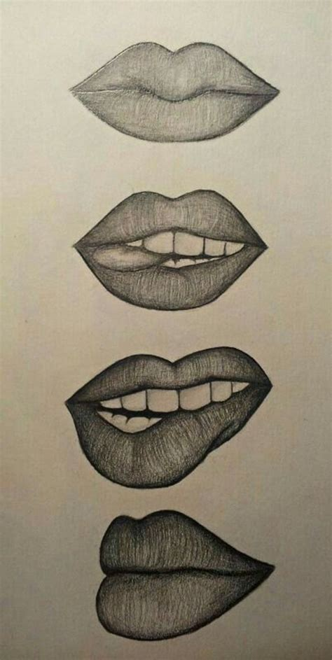cool  easy   draw  bored lips drawing