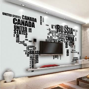 large english alphabet world map removable wall stickers