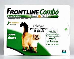 Bicarbonate Contre Les Puces De Chat : frontline combo chat 6pip anti puce anti tique ~ Melissatoandfro.com Idées de Décoration