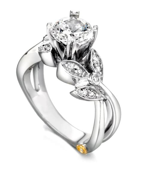 engagement rings flower design mystic floral engagement ring schneider design