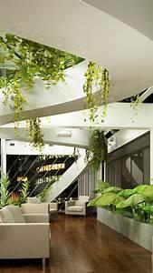Design Tech Interiors Wallpaper Living Room Design High Tech Modern Plants