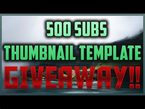 subs thumbnail template giveaway