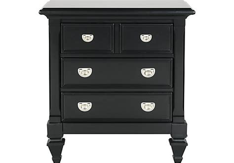 belmar black nightstand traditional