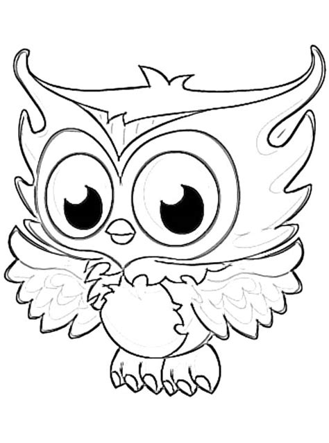 Pictures Of Owls To Color by Nocturnal Bird Owl Coloring Pages 34 Pictures Clip