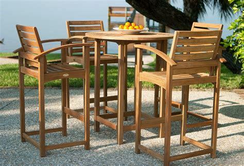 pc somerset teak bar set outdoor decor design