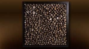 Décoration Murale En Bois : d coration murale cadre rondins de noyer 60 x 60 cm ~ Dailycaller-alerts.com Idées de Décoration