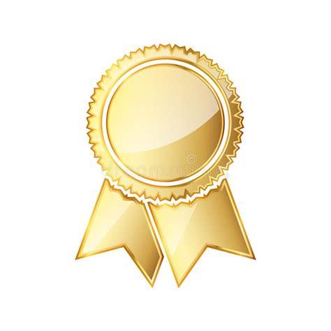 14764 award ribbon icon vector golden medal icon with ribbon vector illustration stock