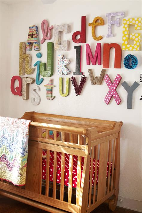 Wooden letter/name shabby chic in home, furniture & diy, home decor, find great deals on ebay for wooden alphabet letters in baby nursery wall letters. Wall Alphabet   11 DIY Decor Ideas For Baby's Nursery   POPSUGAR Moms