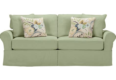 cindy crawford slipcover sofa cindy crawford home beachside green sofa sofas green
