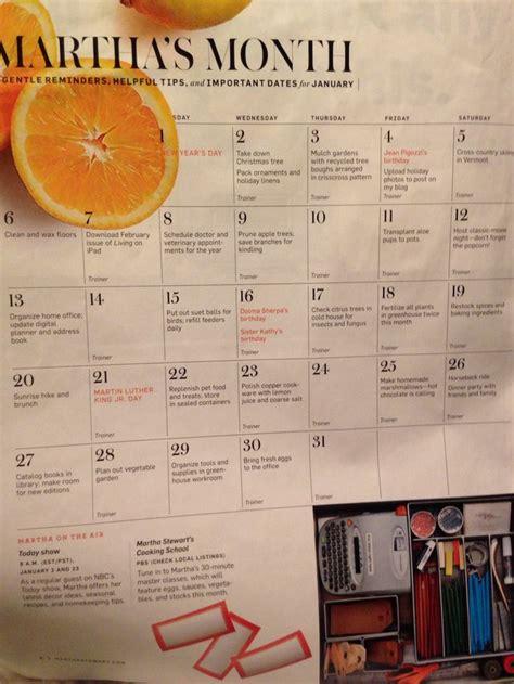 martha stewart calendar january garden calendar martha