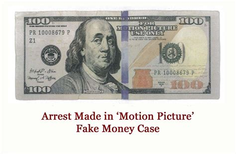 arrest   fake motion picture money case moody